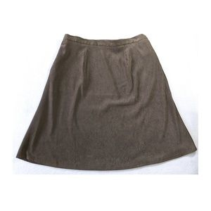 COLDWATER CREEK Olive Boot Skirt NWT 14P